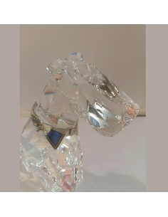 The dog Simbols Swarovski Crystal