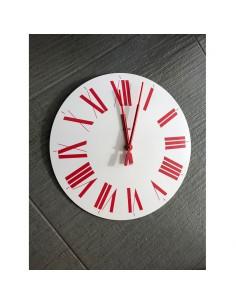 Orologio Firenze bianco e rosso Alessi design Castiglioni