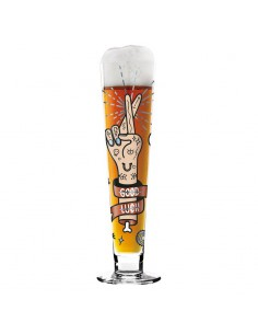 Beer stem glass Black Label - Pietro Chiera design by Ritzenhoffi