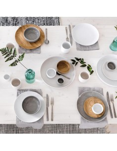 Set da zuppa per 2  - ciotola con piatto porcellana bianca Joyn Arzberg
