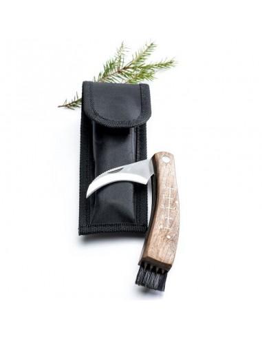 Coltellino da funghi-roncola-con custodia in confezione regalo