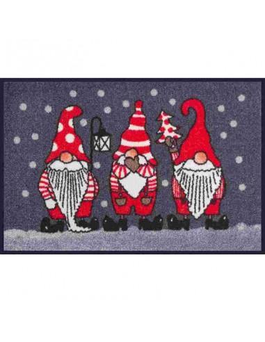 Tappetino 3 Babbi Natale Kleen Tex