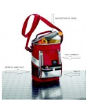 Borsa termica a tracolla BE CooL rossa 8 litri con tasche