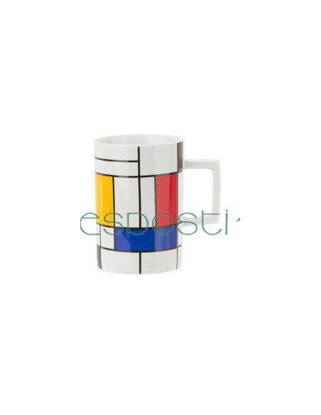 Coffee cups and mugs Hommage to Mondrian by Koenitz