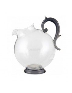 Round plastic acrylic jug with handle Aqua BaciMilano unbreakable
