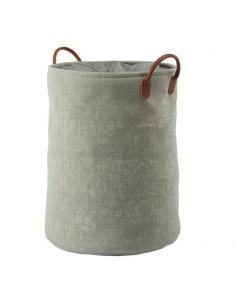 Portabiancheria con sacco rimovibile e lavabile , manici in ecopelle
