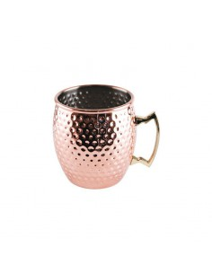 Tazza Moscove Mule in acciaio Pvd rame Paderno
