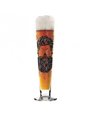 Beer stem glass Black Label Petra Mohr Super design by Ritzenhoff