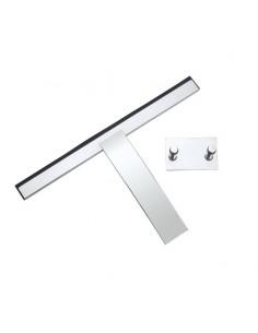 Tiravetri da doccia con supporto biadesivo in acciaio inox