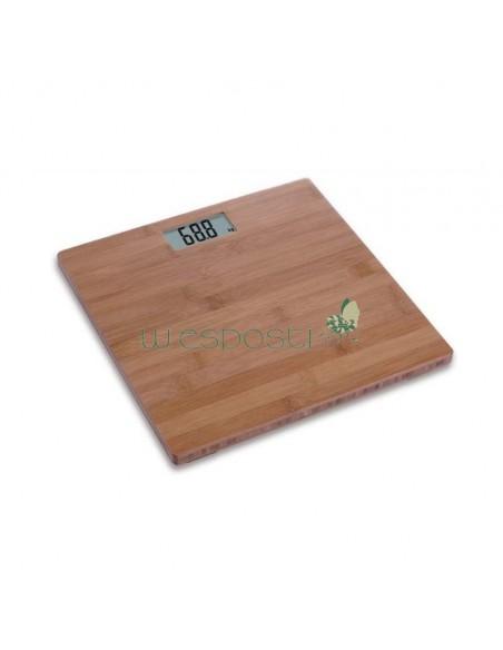 Bilancia pesapersone digitale in bambù