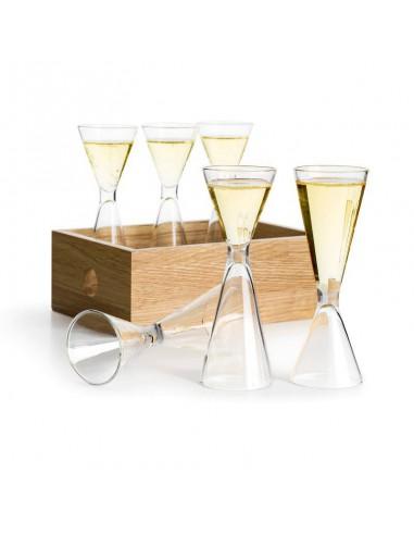 Set 6 bicchierini liquore a 2 capacità