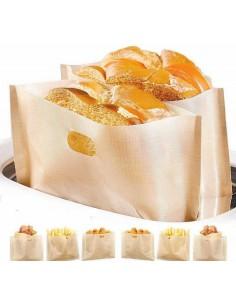 Set 3 sacchetti per toast e panini , antiaderenti , riutilizzabili