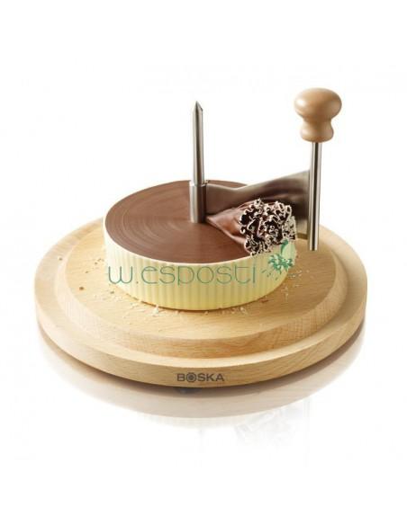 Girolla raschia formaggio/cioccolato in marmo Boska