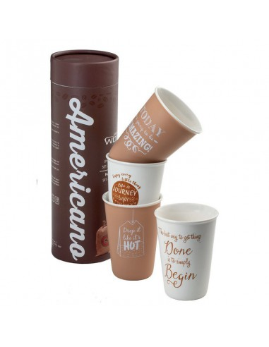 Set 4 mug in confezione regalo