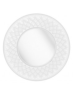 Service plate Diamante acrylic transparent set 2 pcs