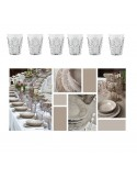 Water glass Evergreen acrylic set 6 pcs