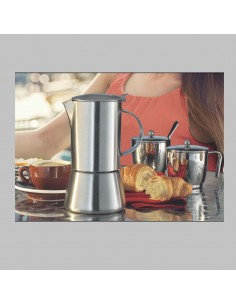 Espresso coffee maker suitable for induction cooking