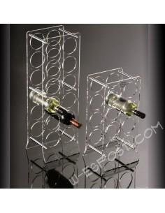 Clear plexiglass wine rack  8/12 bottles