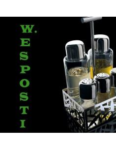 Condiment set : oil,vinegar,salt,pepper and spices Cactus Alessi
