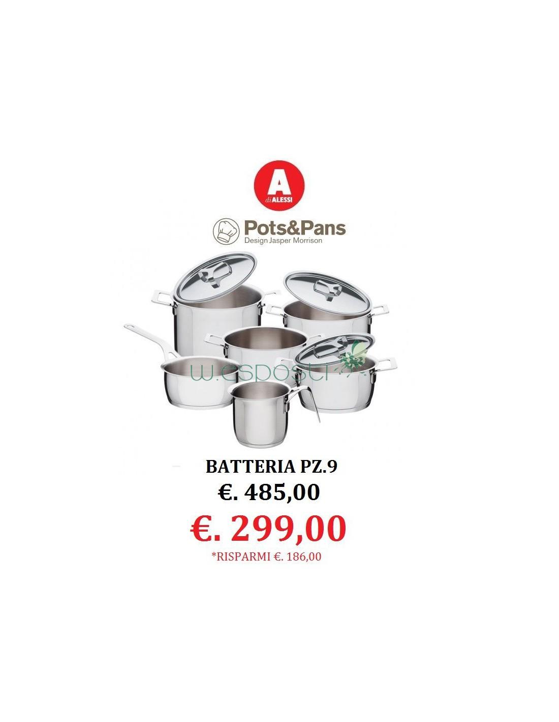 Batteria pz.9 Pots&Pans - Jasper Morrison - Alessi