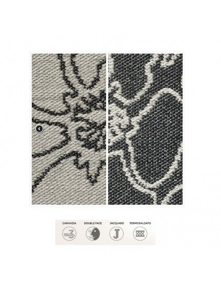 Corsia Flou grigio/nera double face Seweedy cm.60x200