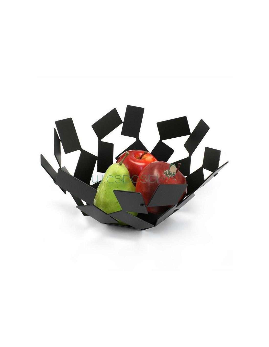 Cestino portapane frutta alessi stanza dello scirocco nero for Portapane alessi prezzo